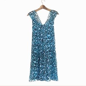 Diane Von Furstenberg Animal Print Silk Midi Dress